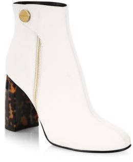 Stella McCartney Curved Tortoise Heel Booties