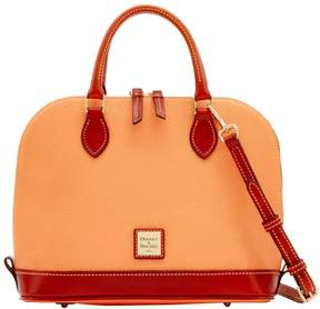 Dooney & Bourke Pebble Grain Zip Zip Satchel - APRICOT - STYLE