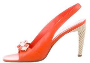 Bottega Veneta Leather Intrecciato-Trimmed Sandals