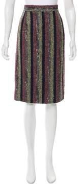 Christian Lacroix Striped Bouclé Skirt