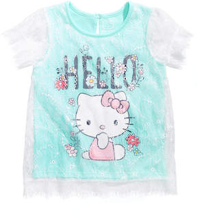 Hello Kitty Lace Overlay T-Shirt, Toddler Girls