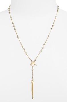 Chan Luu Women's Crystal Station Dagger Pendant Y-Necklace