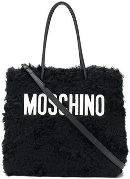 Moschino medium textured logo tote