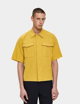 Dries Van Noten Twill Shirt in Yellow