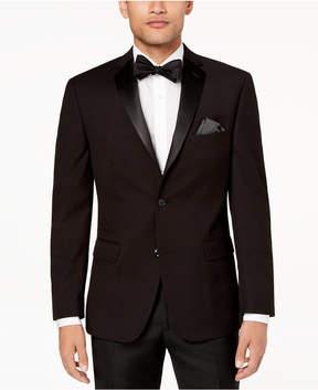 Alfani Men's Slim-Fit Solid Black Textured Dinner Jacket, Created for Macy's