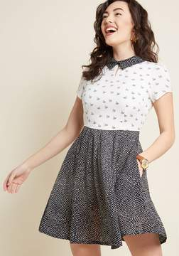 Louche Pattern Affection Collared Dress