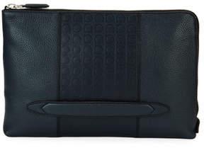 Salvatore Ferragamo Gancio-Embossed Leather Portfolio