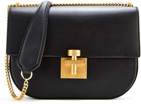 Oscar de la Renta Black Rider Crossbody Bag