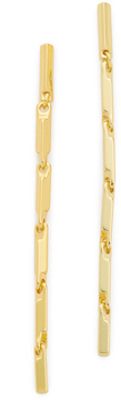 Eddie Borgo Peaked Link Linear Drop Earrings