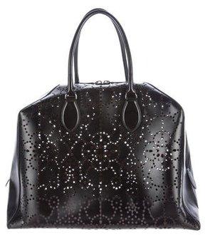 Alaia Laser Cut Leather Tote