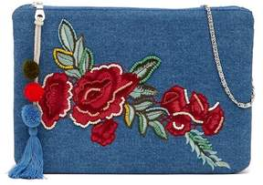 Steve Madden Hazel Rose Embroidered Denim Crossbody Bag