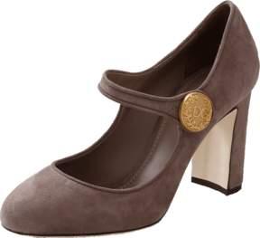 DOLCE & GABBANA Suede Mary Jane Shoe