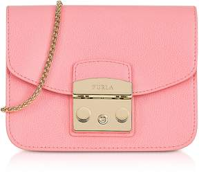 Furla Rose Quartz Leather Metropolis Mini Crossbody Bag