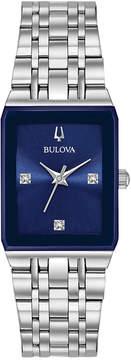 Bulova Women's Diamond-Accent Stainless Steel Bracelet Watch 21x32mm, a Macy's Exclusive Style