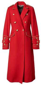 Banana Republic x Olivia Palermo | Italian Melton Wool-Blend Long Military Coat