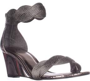 Adrianna Papell Adelaide Wedge Sandals, Gunmetal Metallic.