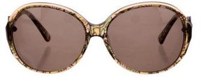 Emilio Pucci Printed Oversize sunglasses