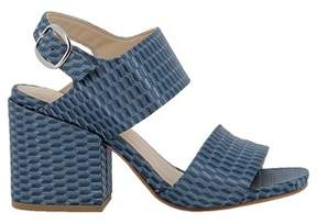 Elena Iachi Women's Blue Leather Sandals.