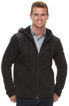 Apt. 9 Men's Mixed Media Sherpa-Lined Hooded Jacket