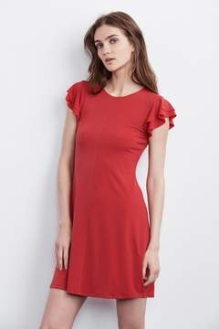 Velvet by Graham & Spencer TEELA RUFFLE STRETCH JERSEY DRESS