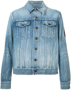 Saint Laurent patch detail denim jacket