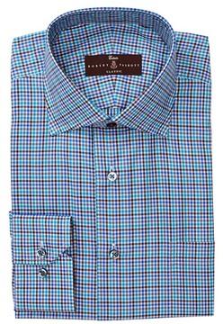 Robert Talbott Classic Fit Windowpane Print Dress Shirt