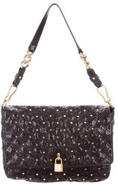 Marc Jacobs Embossed Studded Bag - BLACK - STYLE