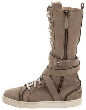 Christian Louboutin Suede Sneaker Boots