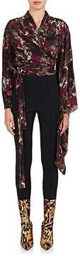 Balenciaga Women's Abstract-Print Silk Wrap Blouse