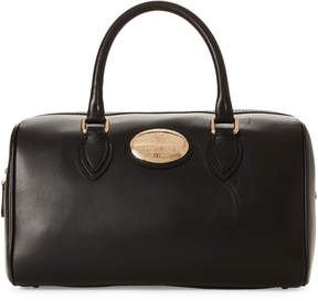 Roberto Cavalli Black Bauletto Leather Tote
