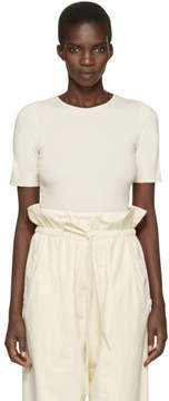 LAUREN MANOOGIAN Off-White Cotton and Cashmere T-Shirt