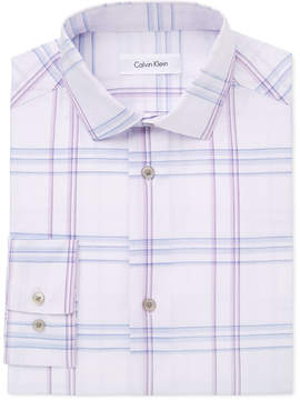 Calvin Klein Windowpane Plaid Shirt, Big Boys (8-20)