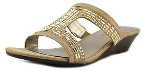 Karen Scott Seryne Open Toe Synthetic Wedge Sandal.