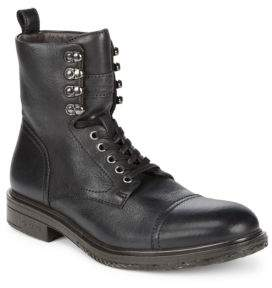 John Varvatos Star Cap Toe Leather Boots