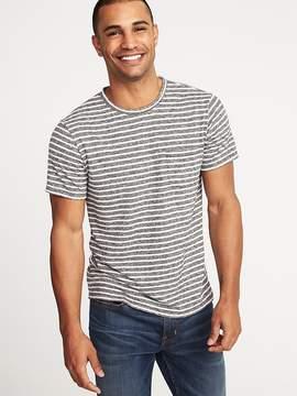 Old Navy Linen-Blend Striped Pocket Tee for Men