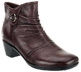 Earth As Is Origins Mallory Leather Ankle Boots