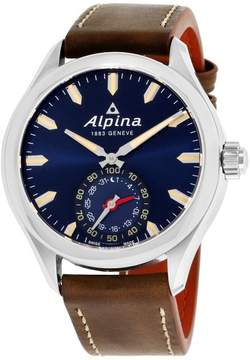 Alpina Horological Smartwatch AL285NS5AQ6 Stainless Steel & Leather Quartz 44mm Mens Watch