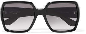 Saint Laurent - Square-frame Acetate Sunglasses - Black