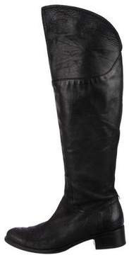 Alberto Fermani Leather Knee-High Boots