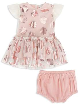 Stella McCartney Girls' Mesh Metallic-Seashell Dress & Bloomers Set - Baby
