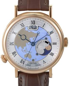 Breguet Classique Hora Mundi Automatic Men's 18K Rose Gold Watch