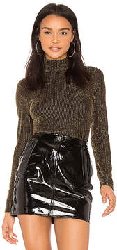 BCBGMAXAZRIA Brinne Sleeve Turtleneck Top