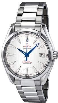 Omega Seamaster Aqua Terra Teak Opaline Silver Dial Steel Men's Watch