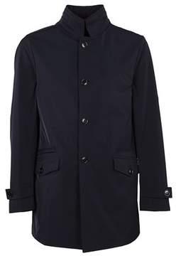 Fay Men's Black Cotton Coat.