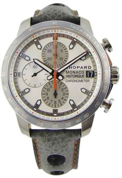 Chopard Grand Prix de Monaco Titanium / Leather 44.5mm Mens Watch