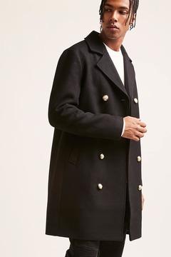 21men 21 MEN Double-Breasted Coat