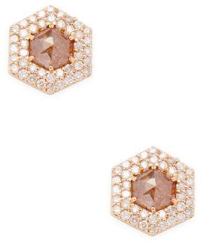 Artisan Women's Hexagon-Cut Diamond Stud Earrings