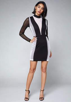 Bebe Sabrina Mesh Dress
