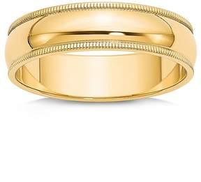 Bloomingdale's Men's 6mm Milgrain Half Round Wedding Band 14K Yellow Gold - 100% Exclusive