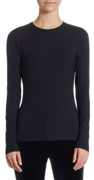 Akris Punto Studded Jersey Top